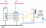 micro controller to power chip to motor
